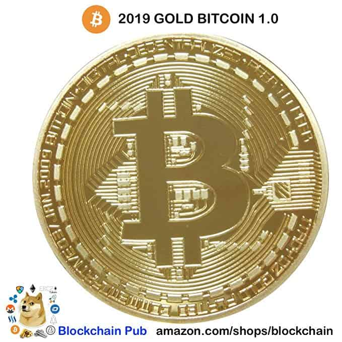Gold Bitcoin 2019 COMMEMORATIVE AND BITCOIN TURNS 10 EBOOK - HAPPY BIRTHDAY BITCOIN! We have Blockchain Cryptocurrency Ethereum Ripple Eos Litecoin