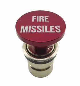 Fire Missiles Button Car Cigarette Lighter by Citadel Black - Anodized Aluminum, 12-Volt Replacement Accessory, Fits Most Vehicles, Socket Size A