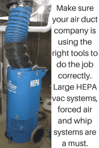 Air Duct Cleaning With HEPA Vac