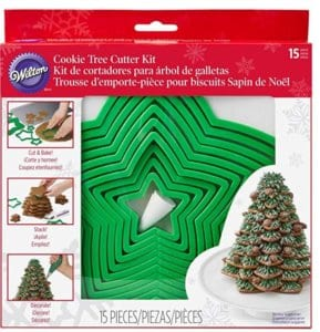 Wilton Gingerbread Cookie Tree Cutter Set $11.99