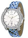 TELLUS Discoverer 42 Men's Diamond Watch, Genuine Alligator Leather Strap