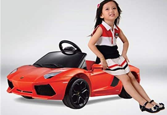 Vroom Rider Lamborghini Aventador LP700-4 Rastar 6V Battery Operated/Remote Controlled Ride-On, Orange
