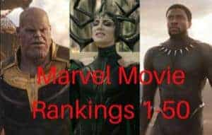 All 50 Marvel Movies SPN Rankings
