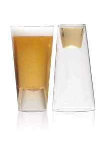 HighWave Beer Shot Light Glasses, Set of 2