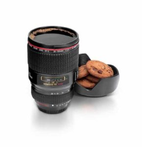 thumbsUp! Camera Lens Cup, Black