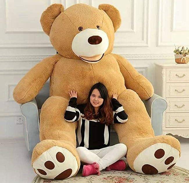 """VERCART 8.5 Foot 102"""" Light Brown Giant Teddy Bear Stuffed Animal Plush Toys Gift for Kids Friends"""