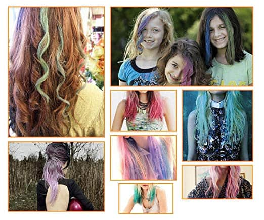 Non-Toxic Temporary Hair Pastel Chalk Beauty Kit - Mix Color Variety Beauty Design, 24pc