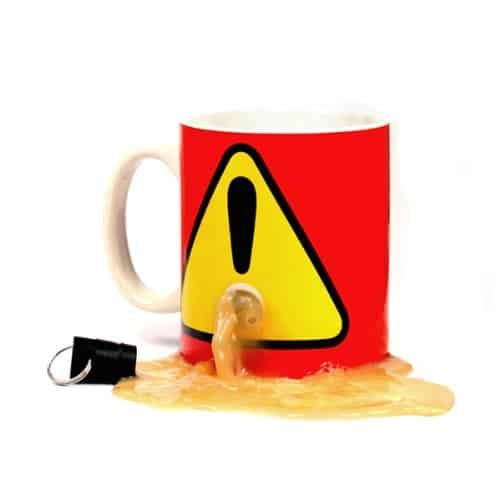 SH No One Will Take Your Cup! Plug Coffee Mug/Cup, Novelty Office Gift