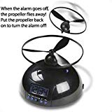 Tech Tools Flying Alarm Clock, Black