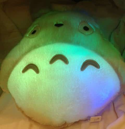 Totoro Soft Plush Pillow 12x15 Light Up!!!