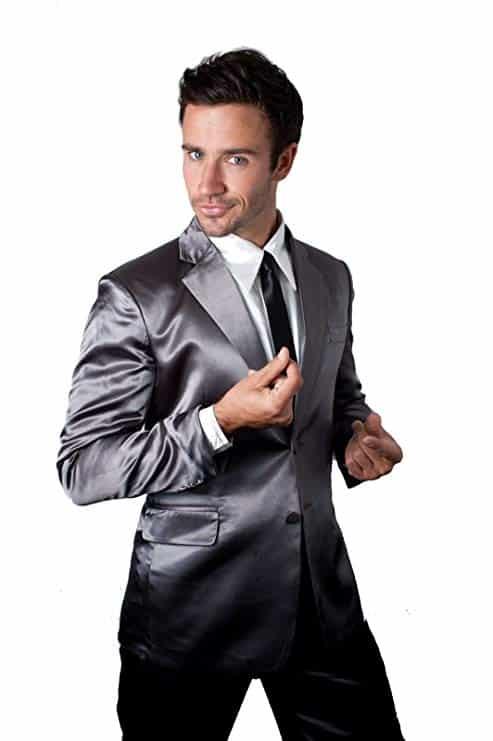 Silk suit pajamas for cool guys