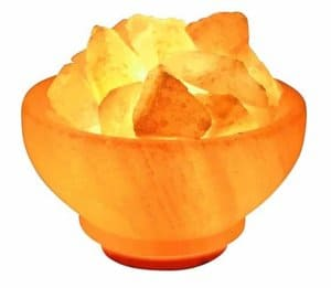Natural Himalayan Salt Fire Bowl Lamp
