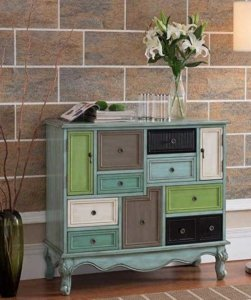 Multicolored cabinet