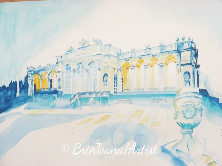 "One of my winter paintings. ""The Gloriette\"" In the parc of Schloß Schönbrunn. You sh"