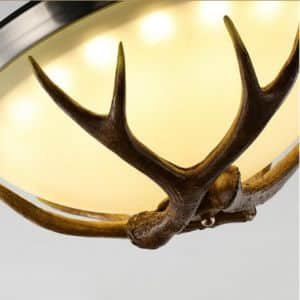 Antler Fan Chandelier with Remote Control