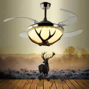 Retro Restaurant Antler Fan Chandelier