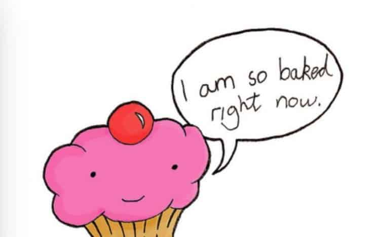 Cupcake cartoon jokes that make me happy bakedCupcake commentSprinklingshutuphealthy muffincpckfunny
