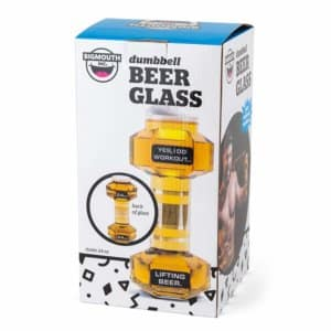 BigMouth Inc Dumbbell Beer Glass, Great Gag Gift for Weight Lifters, Exercise Fanatics, Made of Glass