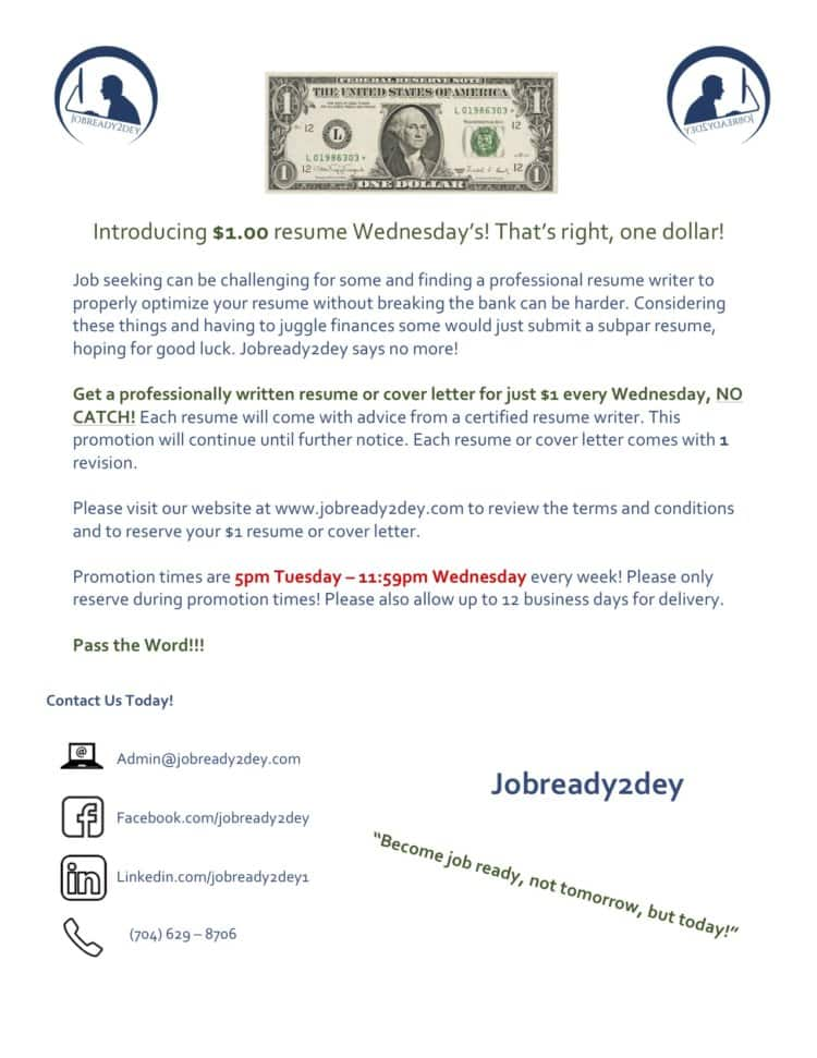 Are you a job seeker in need of resume services, but can't afford the prices right now? If so, you