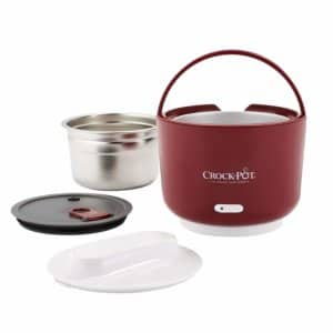 Crock-Pot 24-Ounce Lunch Crock Food Warmer, Deluxe Edition, Red