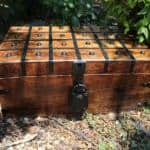 Wooden Pirate Treasure Chest Box