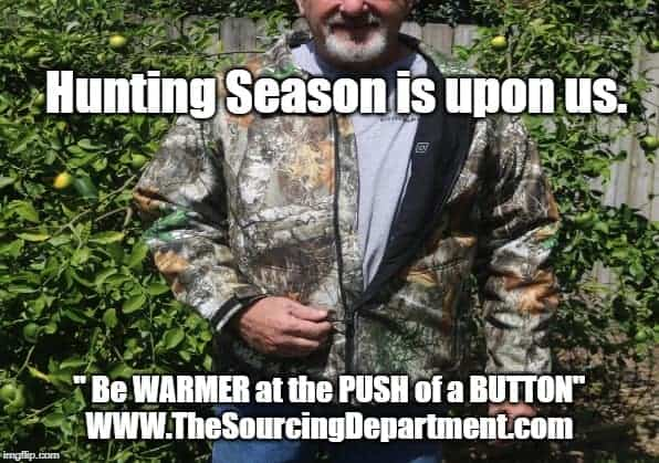 """I hate to be cold hunting. Now all I have to do is \""""PUSH the BUTTON and Be WARMER\"""" Our"""
